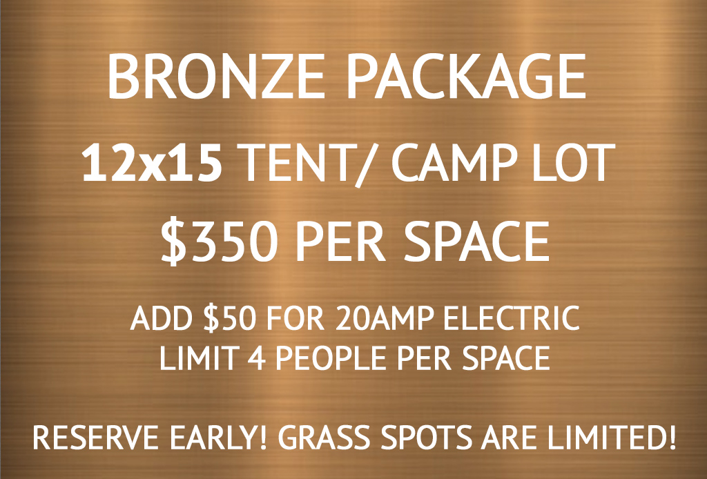 Bronze Tent and Camp Lot (Limit 4 people)