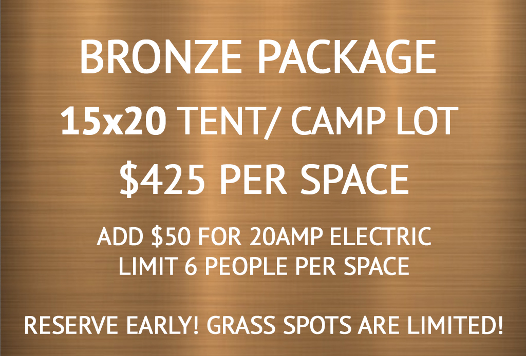 Bronze Tent and Camp Lot (Limit 6 people)